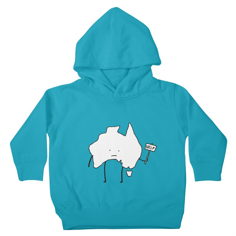 Bushfire Relief Kids Toddler Pullover Hoody by Prinstachaaz