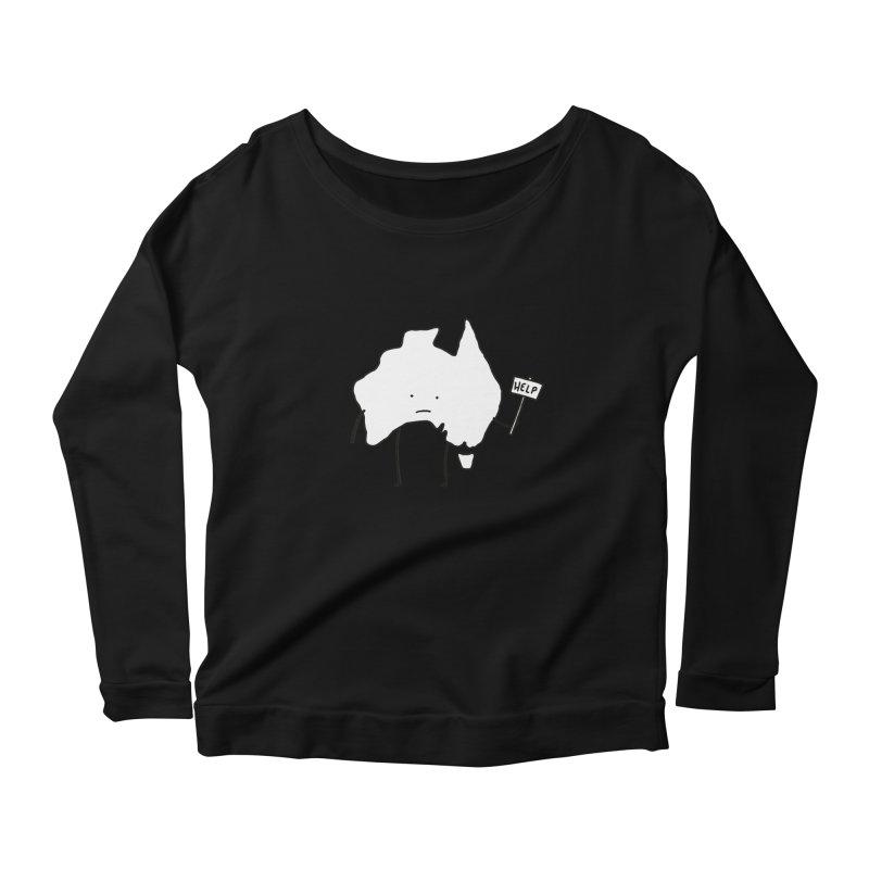 Bushfire Relief Women's Scoop Neck Longsleeve T-Shirt by Prinstachaaz