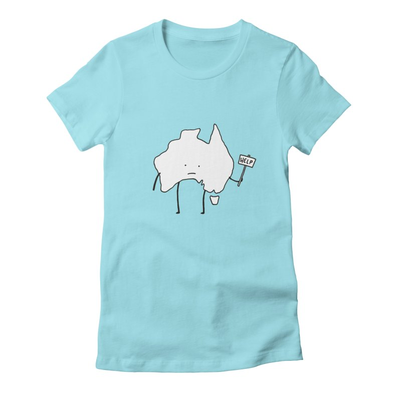 Bushfire Relief Women's Fitted T-Shirt by Prinstachaaz