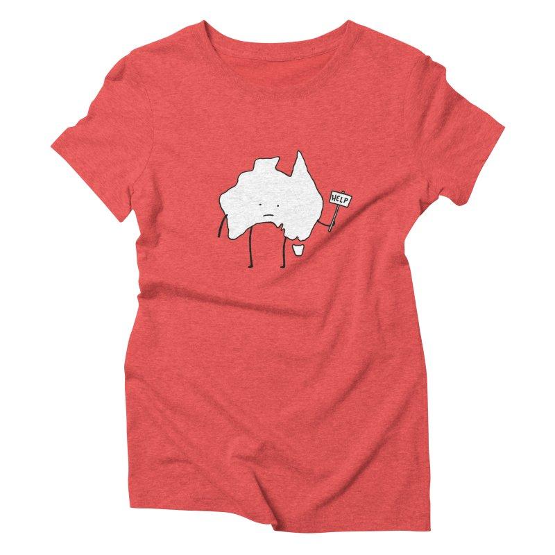 Bushfire Relief Women's Triblend T-Shirt by Prinstachaaz