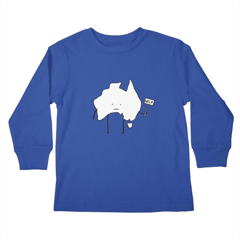 Bushfire Relief Kids Longsleeve T-Shirt by Prinstachaaz