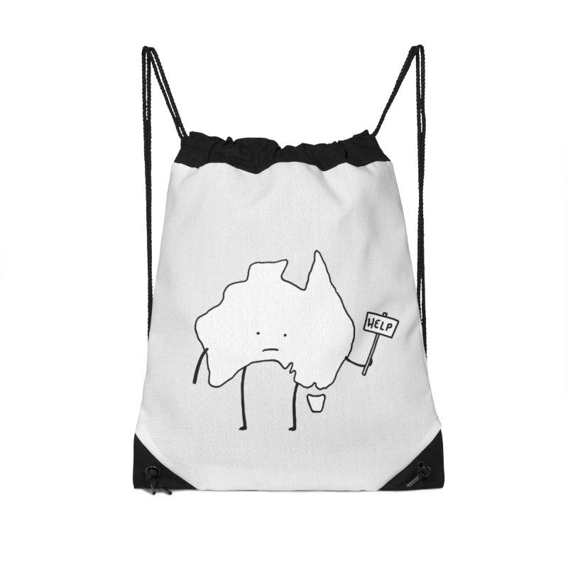 Bushfire Relief Accessories Drawstring Bag Bag by Prinstachaaz