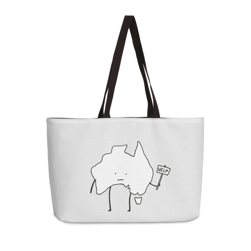 Bushfire Relief Accessories Weekender Bag Bag by Prinstachaaz