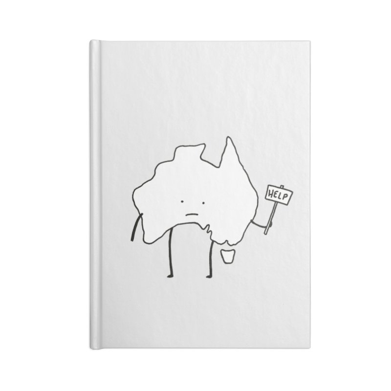 Bushfire Relief Accessories Blank Journal Notebook by Prinstachaaz