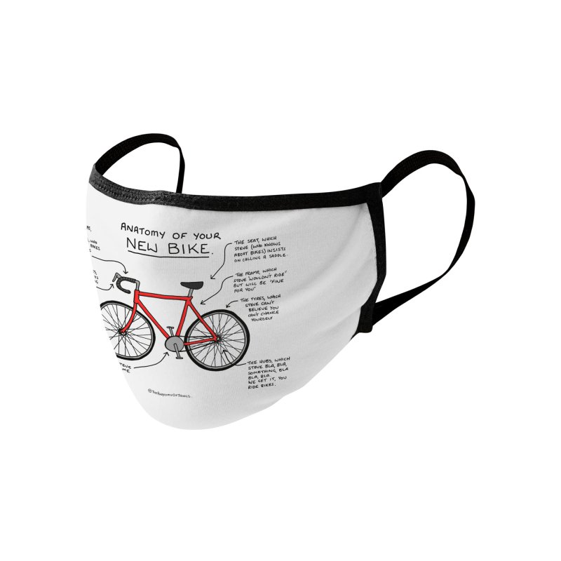 Anatomy of Your New Bike Accessories Face Mask by Prinstachaaz