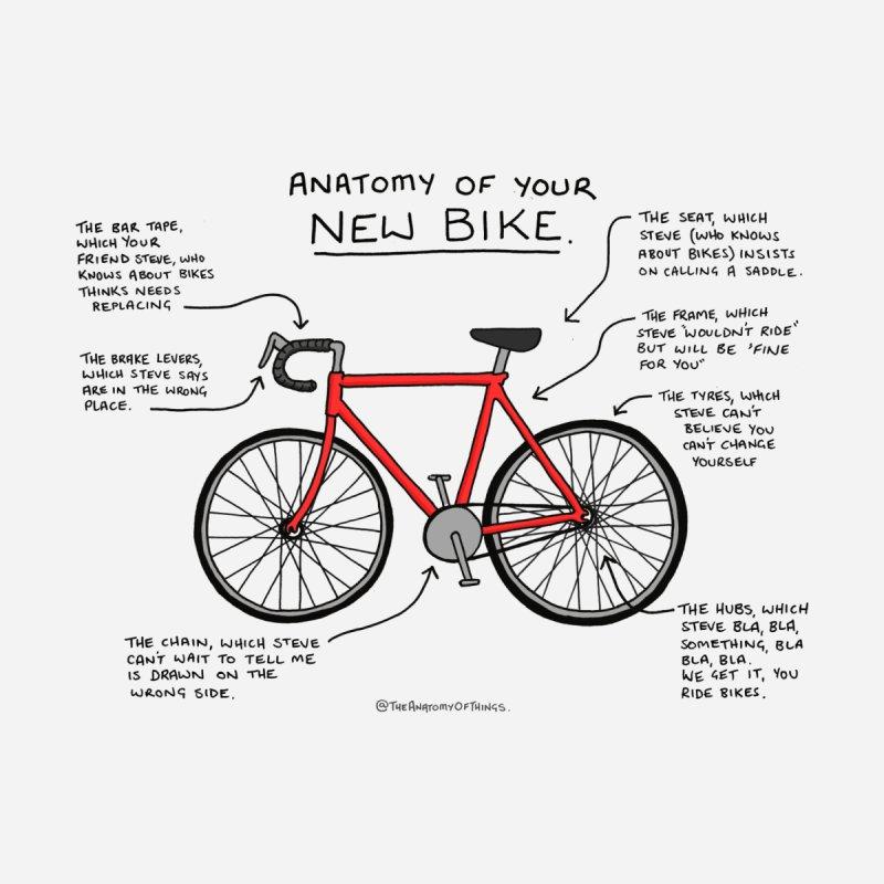 Anatomy of Your New Bike Women's T-Shirt by Prinstachaaz