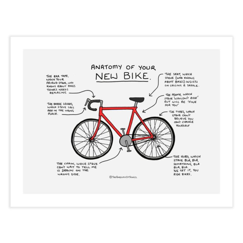 Anatomy of Your New Bike Home Fine Art Print by Prinstachaaz