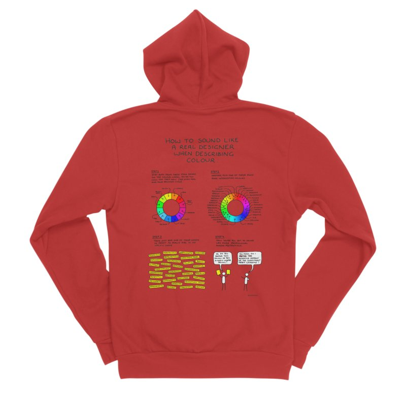 How to Sound Like a Real Designer. Women's Zip-Up Hoody by Prinstachaaz
