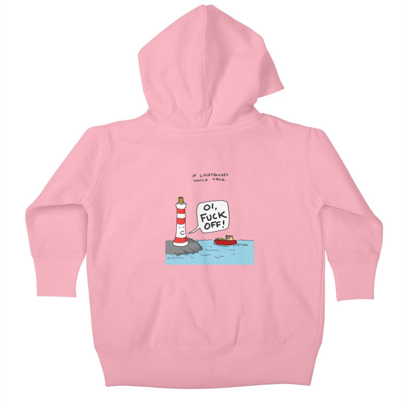 If Lighthouses Could Talk. Kids Baby Zip-Up Hoody by Prinstachaaz