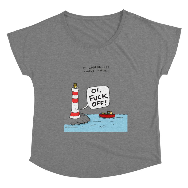 If Lighthouses Could Talk. Women's Scoop Neck by Prinstachaaz