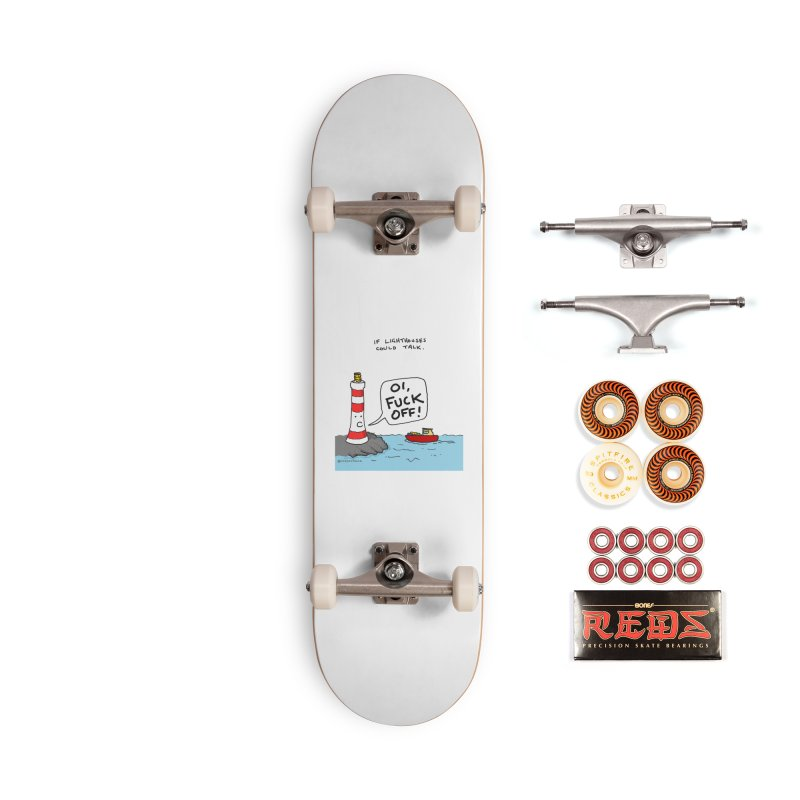 If Lighthouses Could Talk. Accessories Skateboard by Prinstachaaz