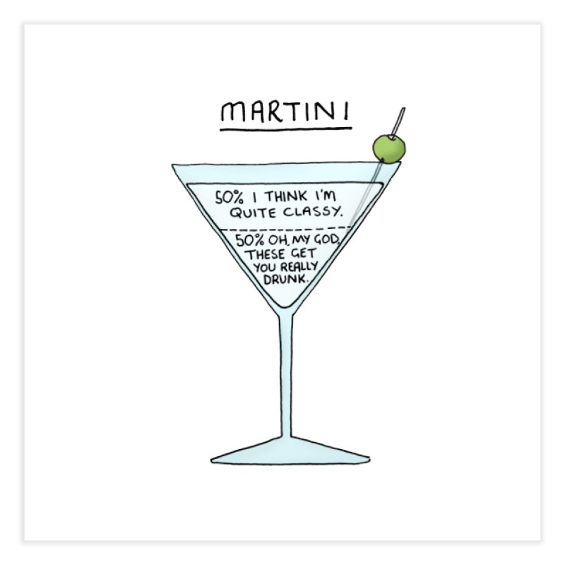 Martini Home Fine Art Print by Prinstachaaz