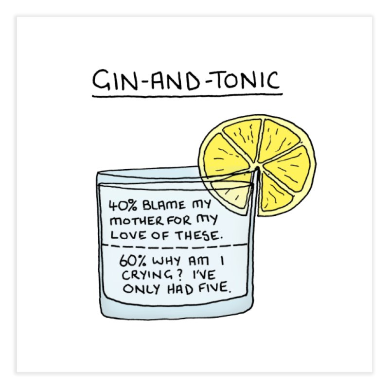 Gin and Tonic Home Fine Art Print by Prinstachaaz