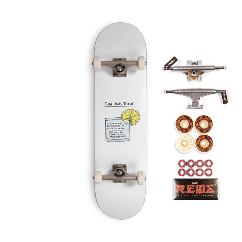 Gin and Tonic Accessories Skateboard by Prinstachaaz