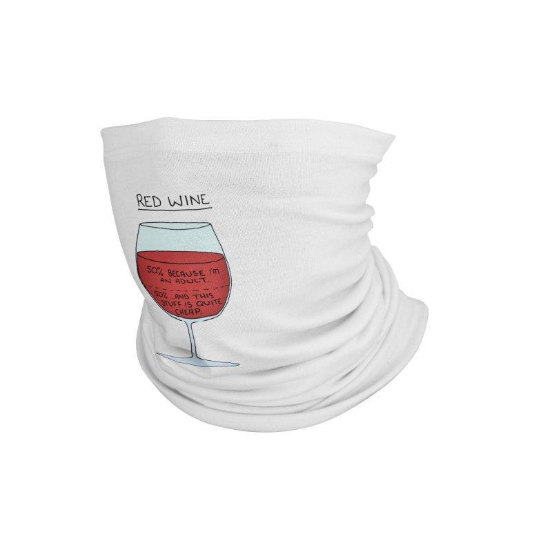 Red Wine Accessories Neck Gaiter by Prinstachaaz