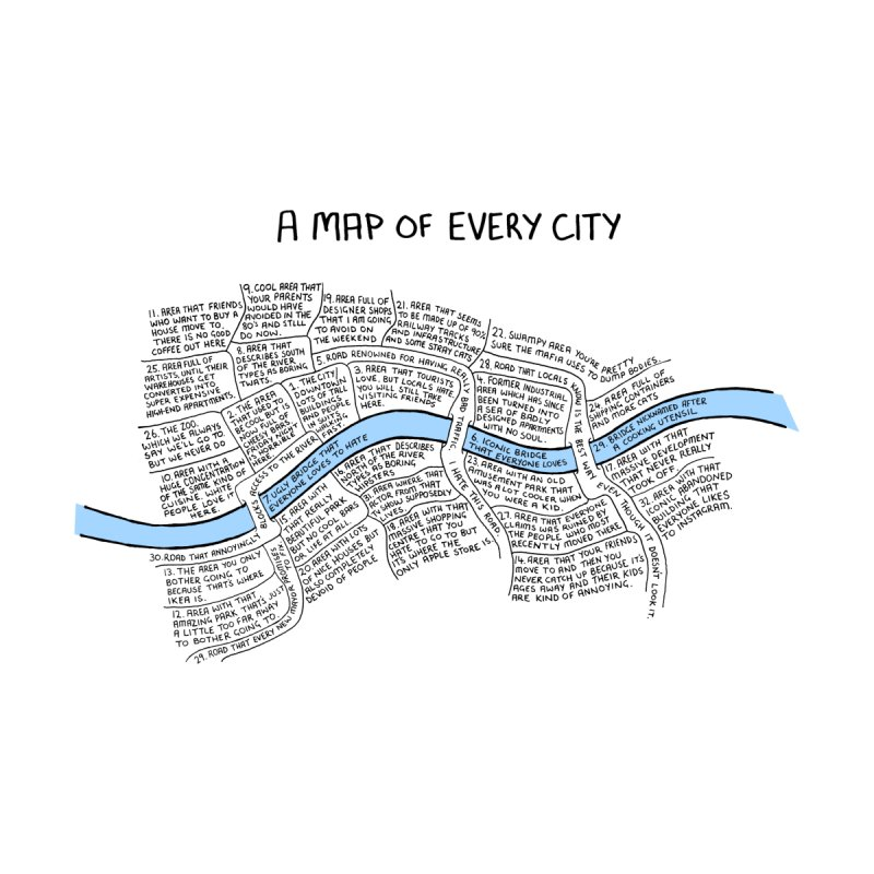 A Map of Every City Home Fine Art Print by Prinstachaaz