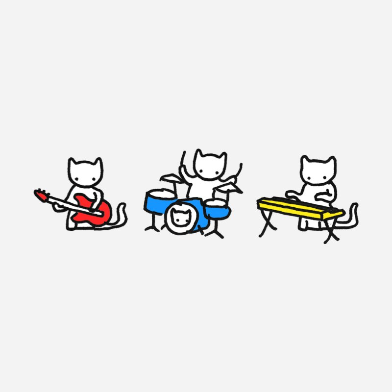 Jazz Cats - Horizontal. Accessories Bag by Prinstachaaz