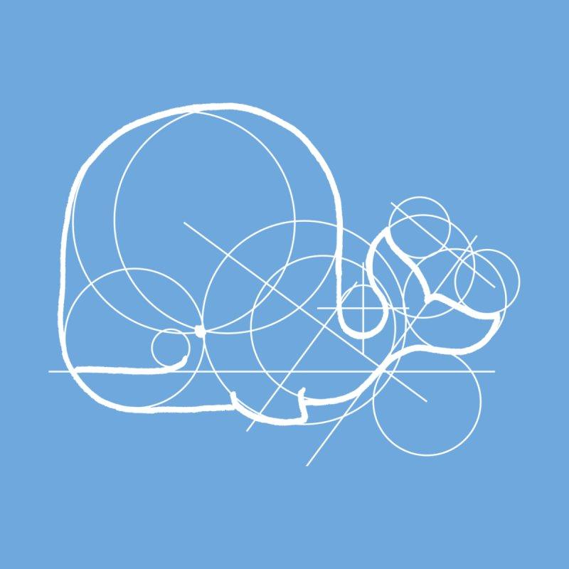 Blue (Whale) Print Accessories Notebook by Prinstachaaz