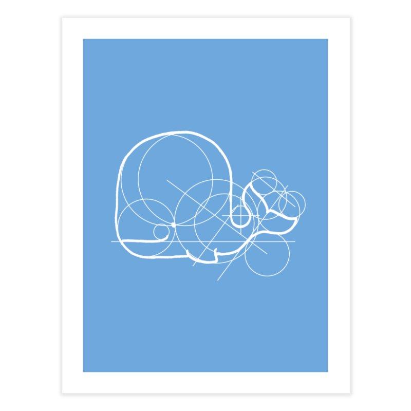 Blue (Whale) Print Home Fine Art Print by Prinstachaaz