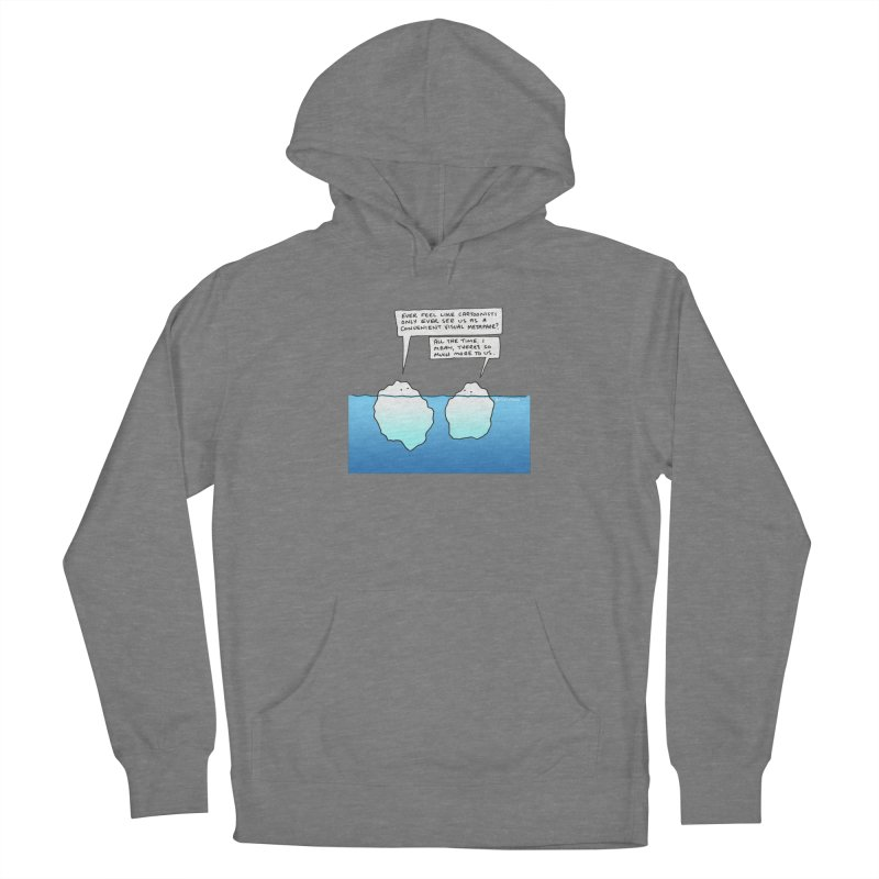 Won't someone please think of the icebergs. Women's Pullover Hoody by Prinstachaaz