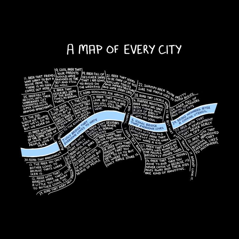 A Map of Every City - (w Black Background.) Women's Sweatshirt by Prinstachaaz