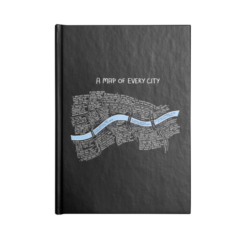 A Map of Every City - (w Black Background.) Accessories Notebook by Prinstachaaz