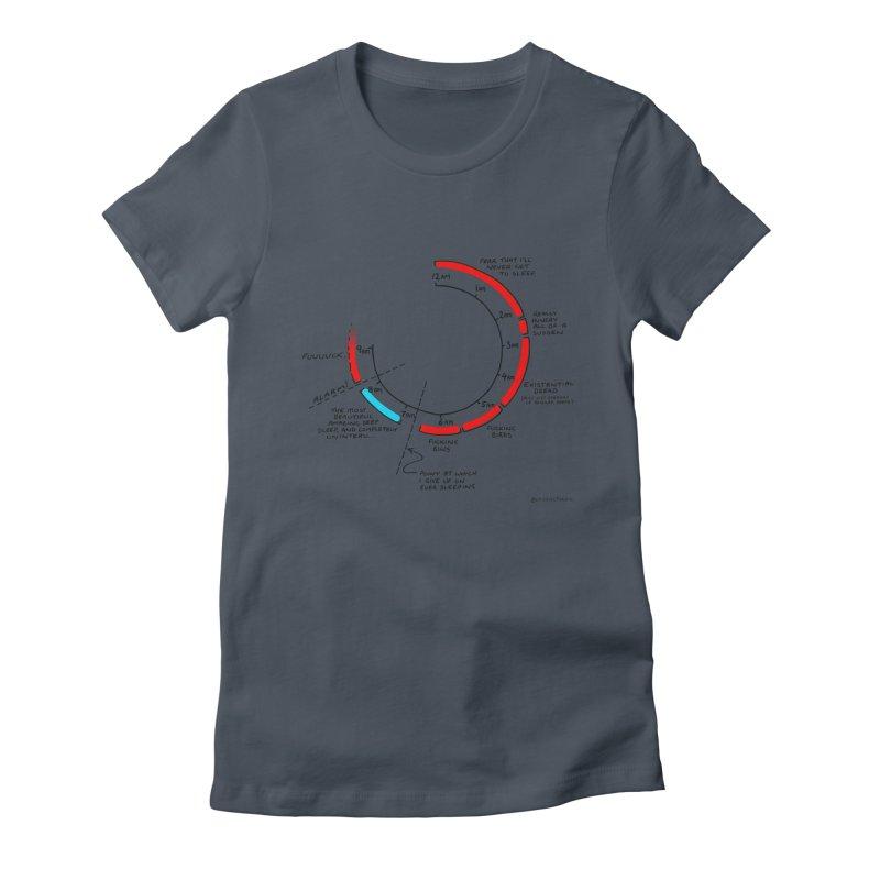 No Sleep Ever. Women's T-Shirt by Prinstachaaz