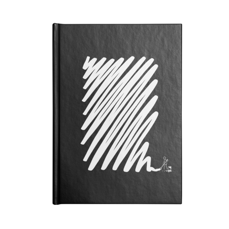 Painting up a Scrawl - White Paint. Accessories Notebook by Prinstachaaz