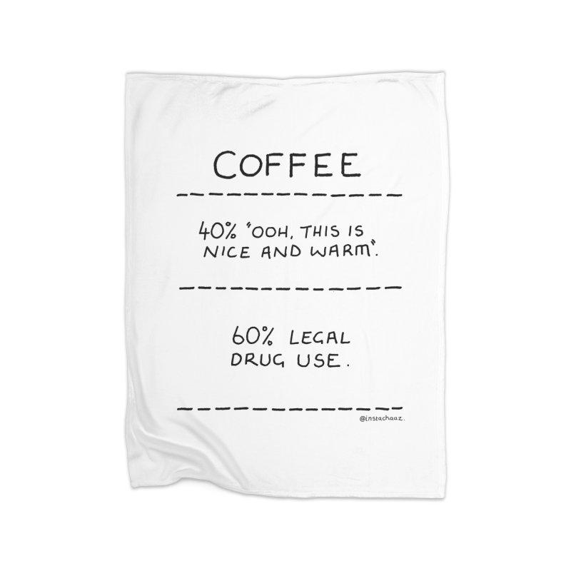 Coffee Ingredients Home Fleece Blanket Blanket by Prinstachaaz