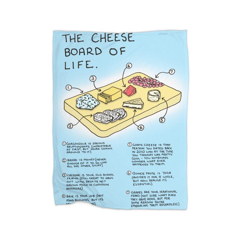 Cheese Board of Life Home Fleece Blanket Blanket by Prinstachaaz