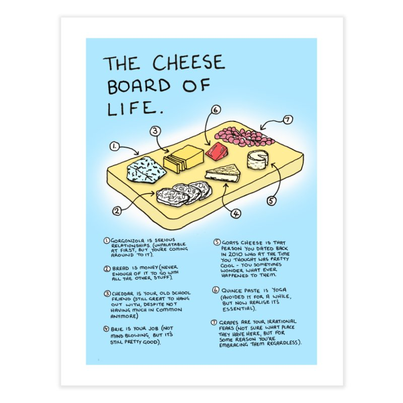 Cheese Board of Life Home Fine Art Print by Prinstachaaz