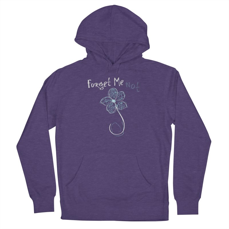Forget Me Not Women's French Terry Pullover Hoody by Nicholas J. Nawroth