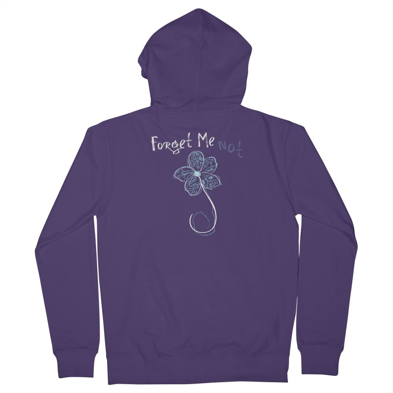 Forget Me Not Women's French Terry Zip-Up Hoody by Nicholas J. Nawroth