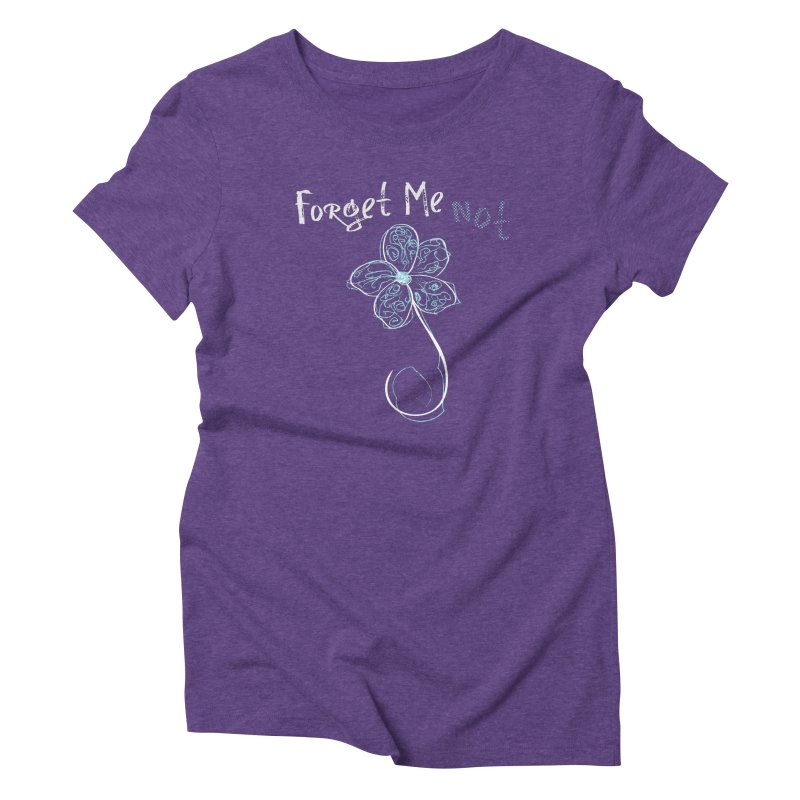 Forget Me Not Women's Triblend T-Shirt by Nicholas J. Nawroth