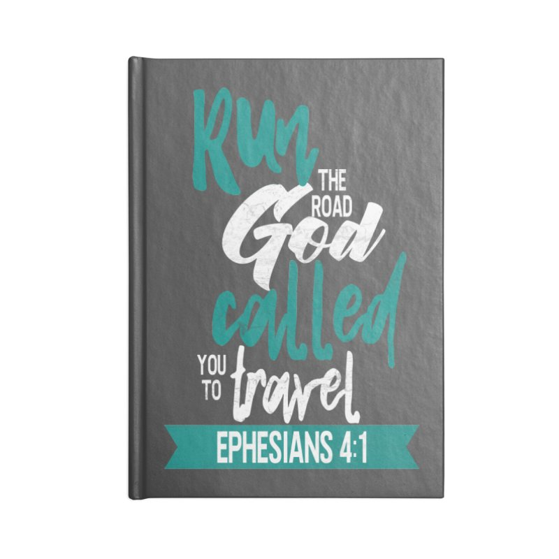 Run the Road God Called You to Travel Accessories Lined Journal Notebook by Intentional Family