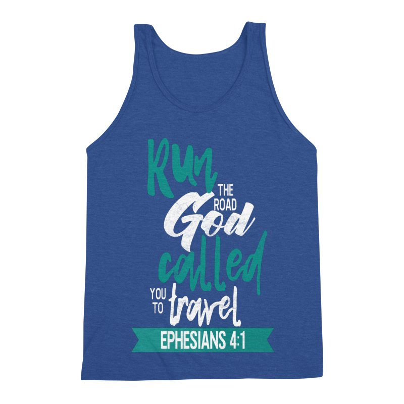Run the Road God Called You to Travel Men's Triblend Tank by Intentional Family