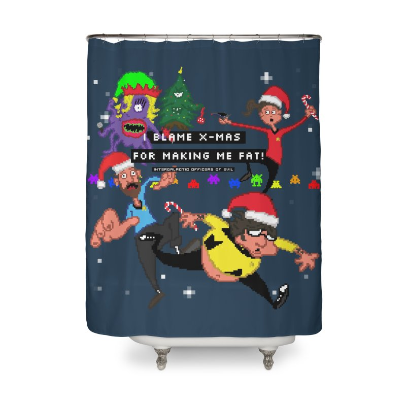 Merchandise Home Shower Curtain by Intergalatic Officers of Evil's Shop