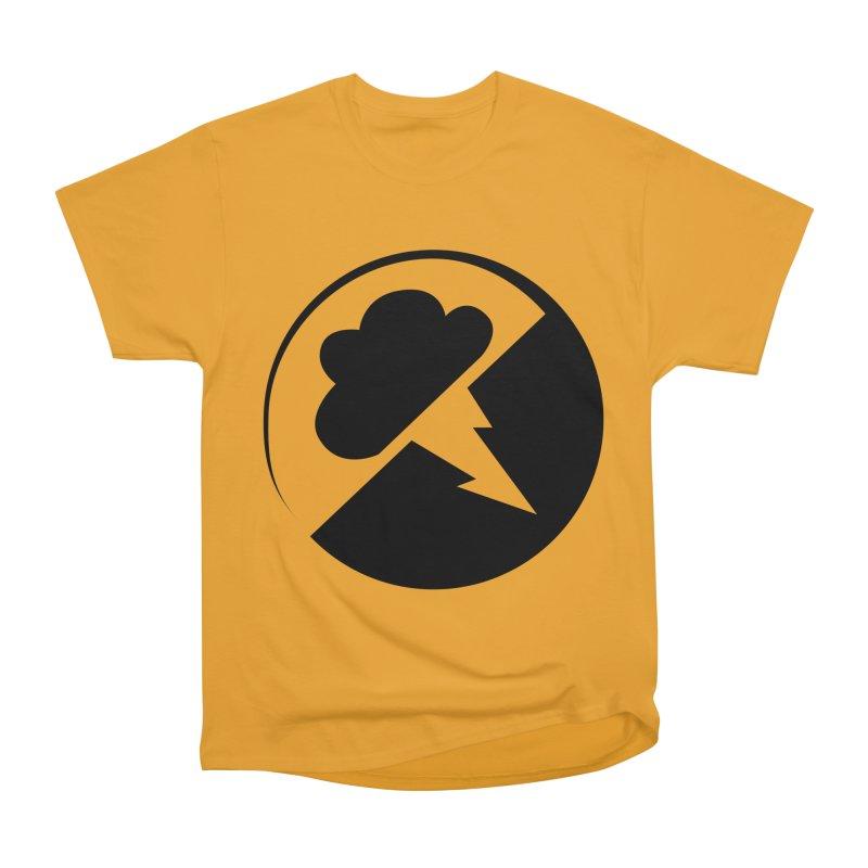 Monochrome Black Logo Men's T-Shirt by Interlucid Merch