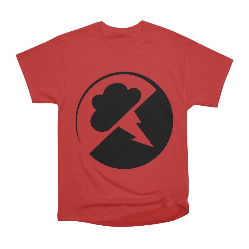 Monochrome Black Logo Men's Heavyweight T-Shirt by Interlucid Merch