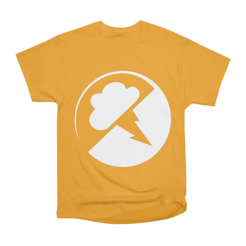 Monochrome White Logo Men's T-Shirt by Interlucid Merch