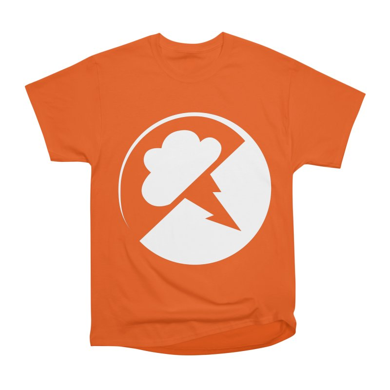Monochrome White Logo Men's Heavyweight T-Shirt by Interlucid Merch