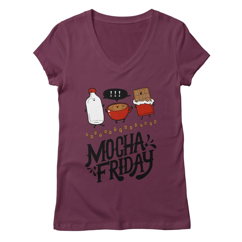 Mocha Friday Women's Regular V-Neck by Taylor's Internet Country Store