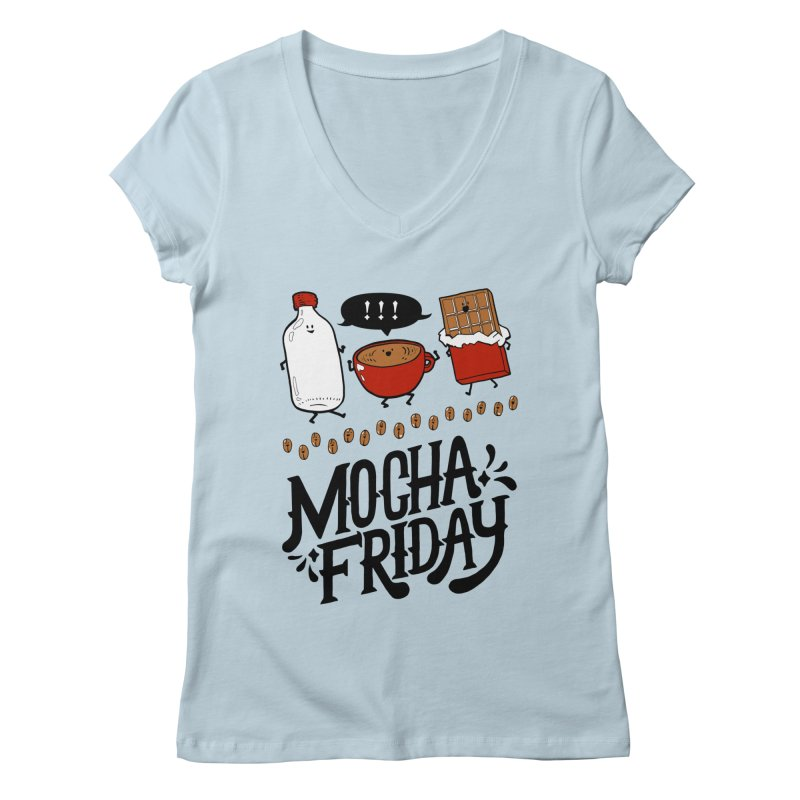 Mocha Friday Women's V-Neck by Taylor's Internet Country Store