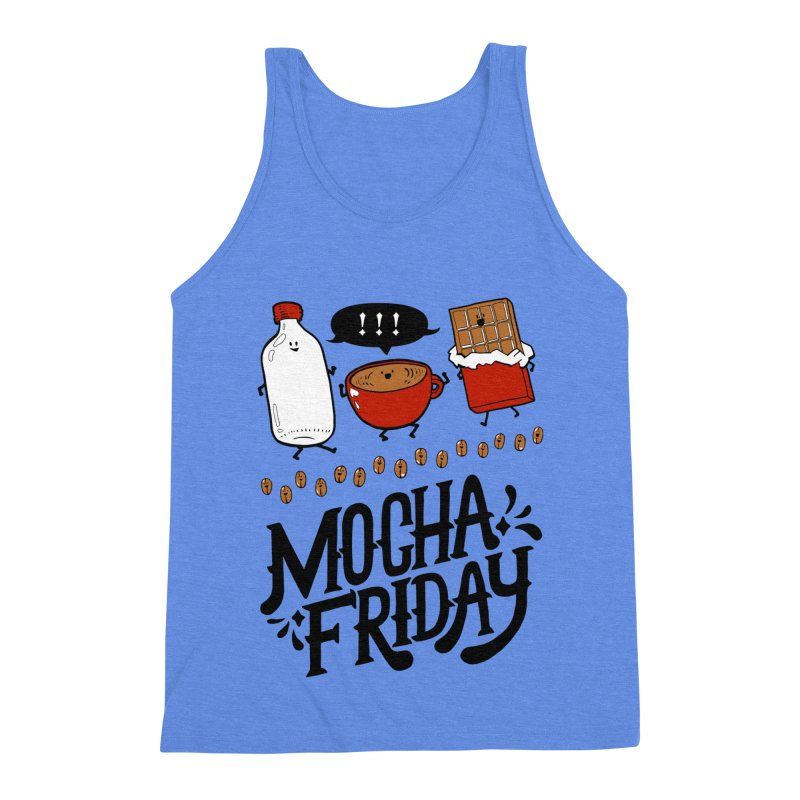 Mocha Friday Men's Triblend Tank by Taylor's Internet Country Store
