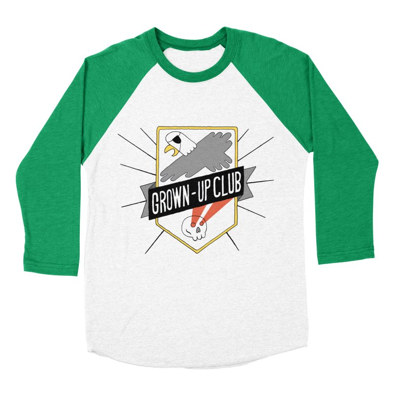 Grown-Up Club: the Shirt Women's Baseball Triblend Longsleeve T-Shirt by Taylor's Internet Country Store