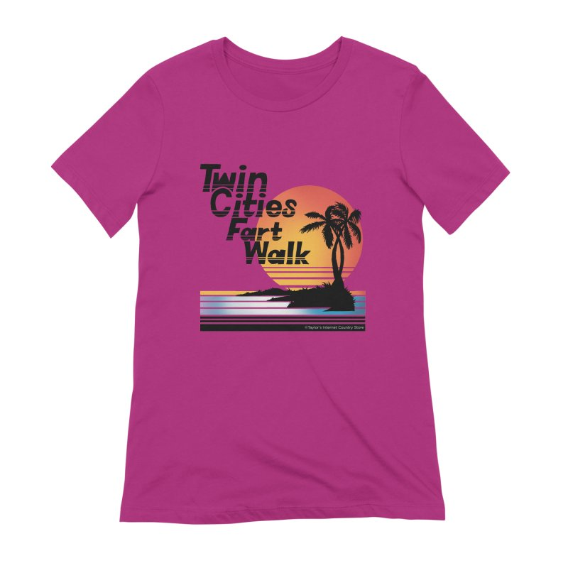 Twin Cities Fart Walk Women's T-Shirt by Taylor's Internet Country Store