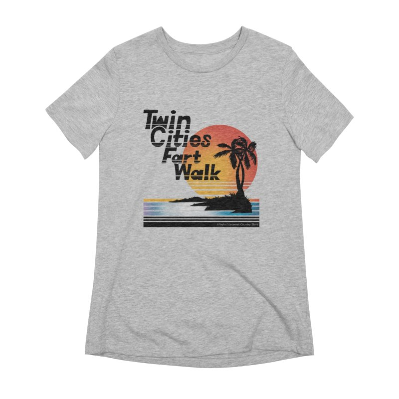 Twin Cities Fart Walk Women's Extra Soft T-Shirt by Taylor's Internet Country Store
