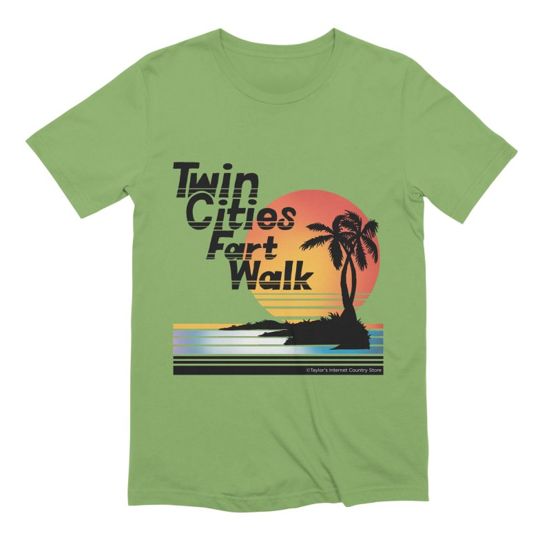 Twin Cities Fart Walk Men's Extra Soft T-Shirt by Taylor's Internet Country Store