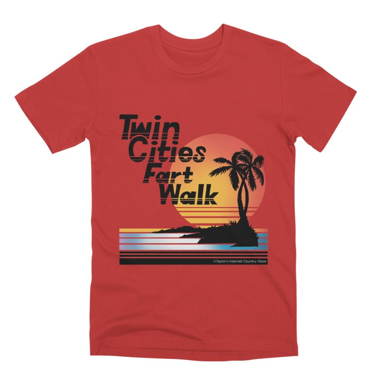 Twin Cities Fart Walk Men's Premium T-Shirt by Taylor's Internet Country Store