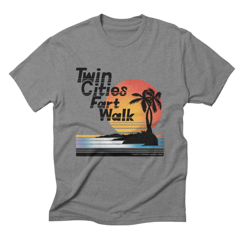 Twin Cities Fart Walk Men's Triblend T-Shirt by Taylor's Internet Country Store
